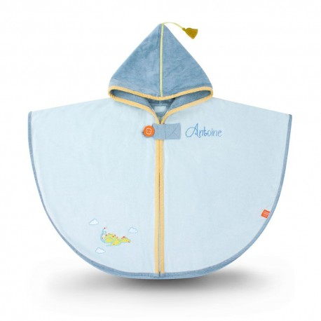 CAPE DE BAIN DRAGON BLEU